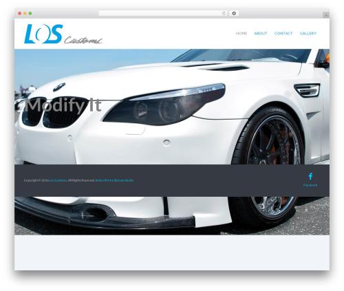 Best WordPress theme Baton Pro - loscustoms.com