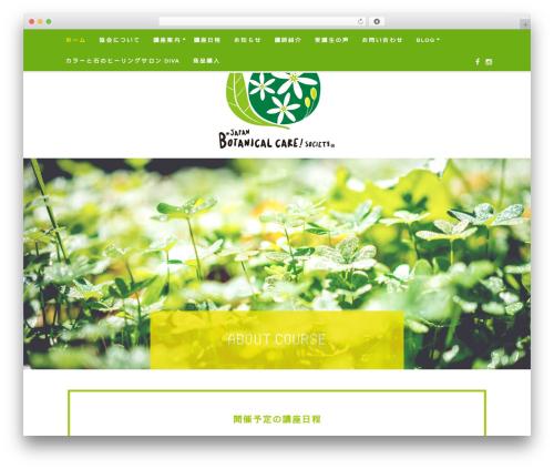 Best WordPress theme Quinn - botanical-care.com