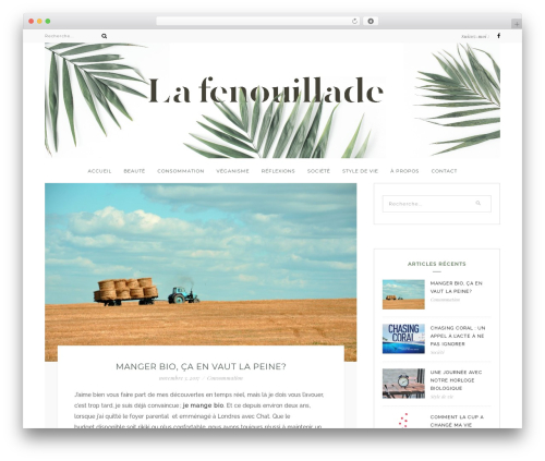 Bluebird best WordPress theme - lafenouillade.com