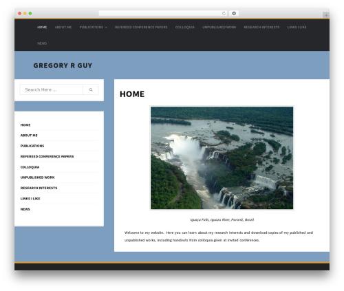 Colorsnap WordPress template - gregoryrguy.com