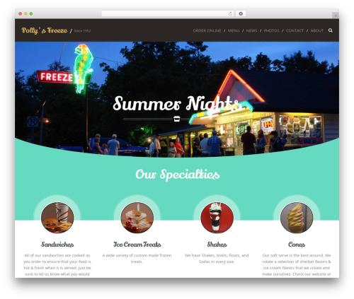 Cream WordPress theme - pollysfreeze.com