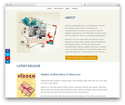 Divi food WordPress theme - janicecumberlidge.com