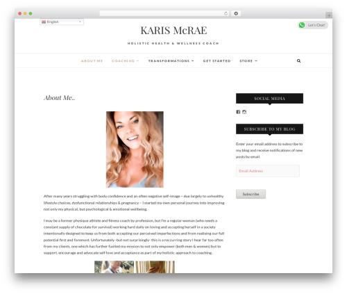 Edge premium WordPress theme - karismcrae.com