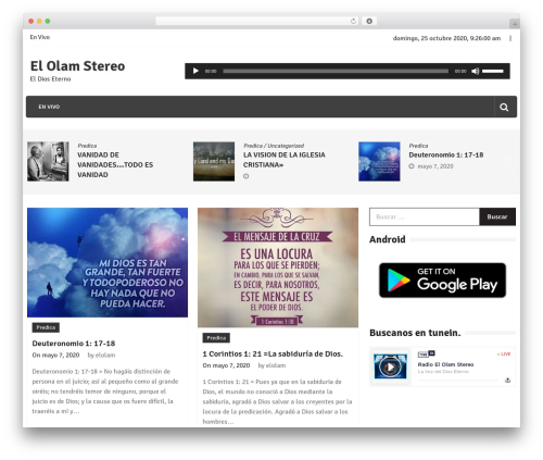 Editorialmag free WordPress theme - elolamstereo.com