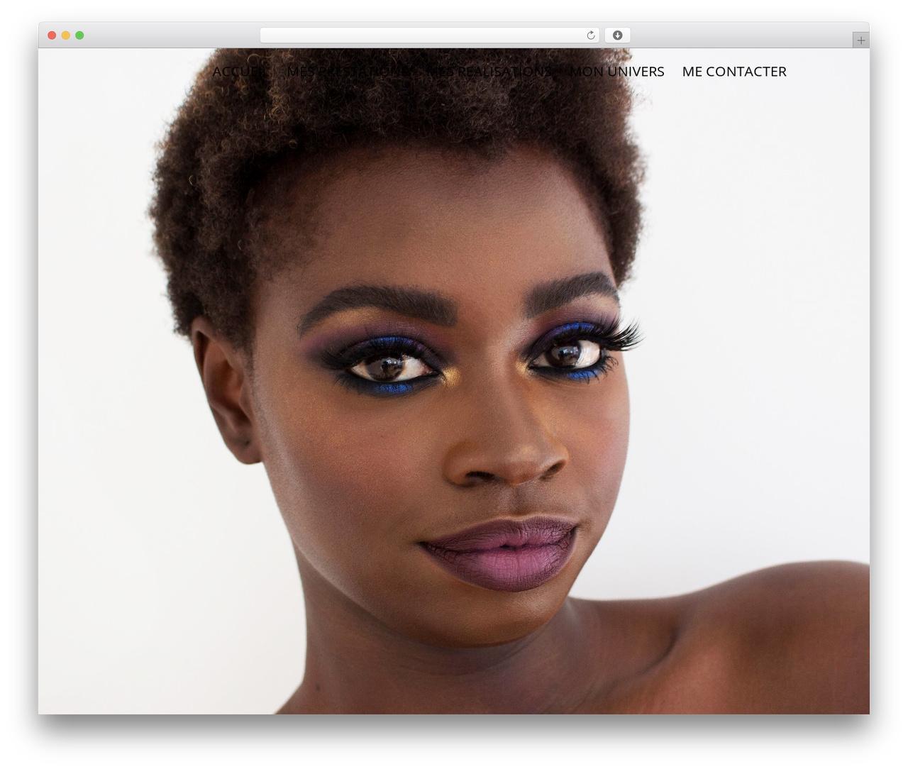 Elite best WordPress template - muende-makeup.com
