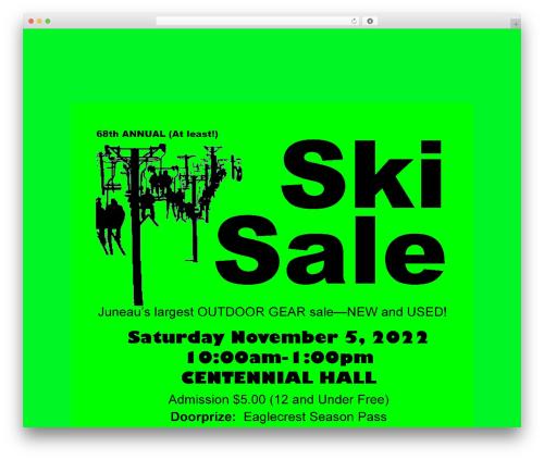 Make free website theme - juneauskisale.com