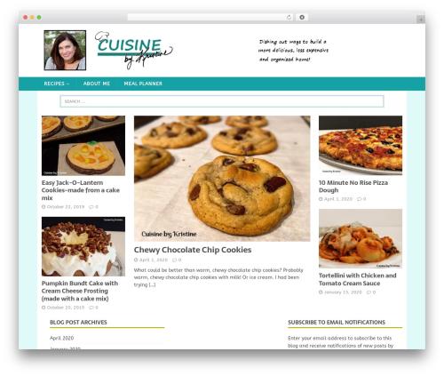MH FoodMagazine best WordPress magazine theme - cuisinebykristine.com
