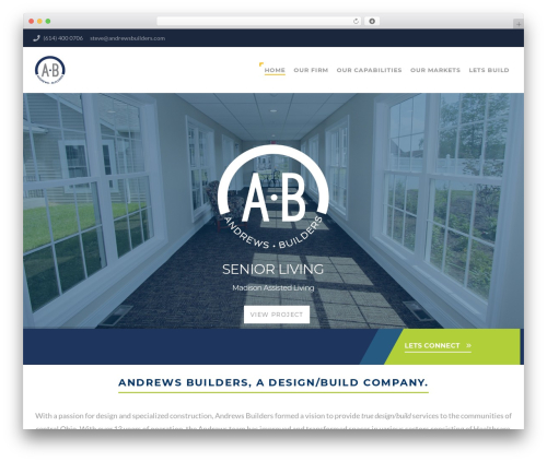 Structure WordPress theme - andrewsbuilders.com