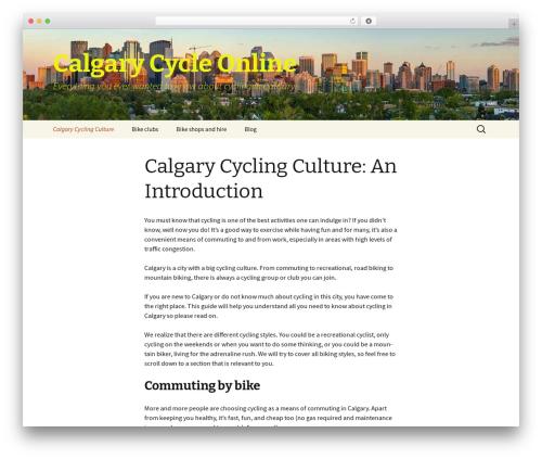 Twenty Thirteen best free WordPress theme - calgarycycleonline.com
