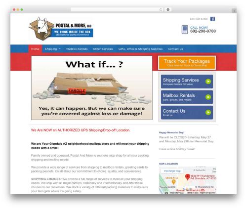 Web Weaver Elite 501 WordPress page template - morethanpostal.com