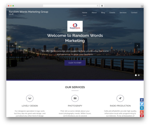 WordPress theme Bizlight - randomwordsmarketing.com