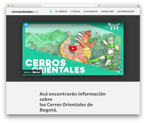 WordPress theme EXO Theme - cerrosorientales.com