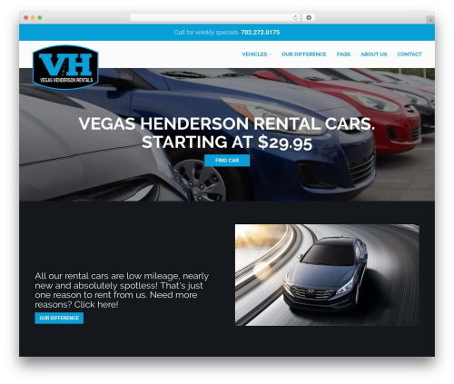 WordPress theme RentIt - vhrentalcars.com