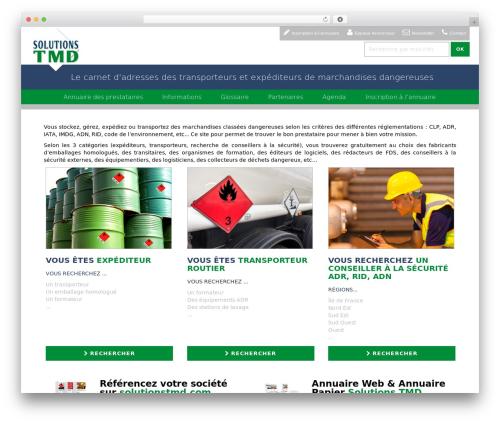 WordPress website template WP RootStrap - solutionstmd.com