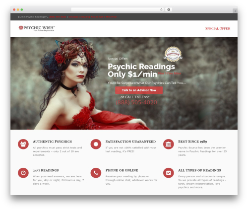 WP template Converio - psychicwish.com