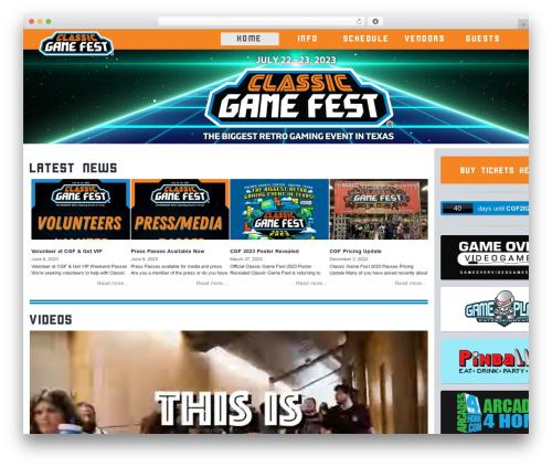 WP theme StrapPress - classicgamefest.com