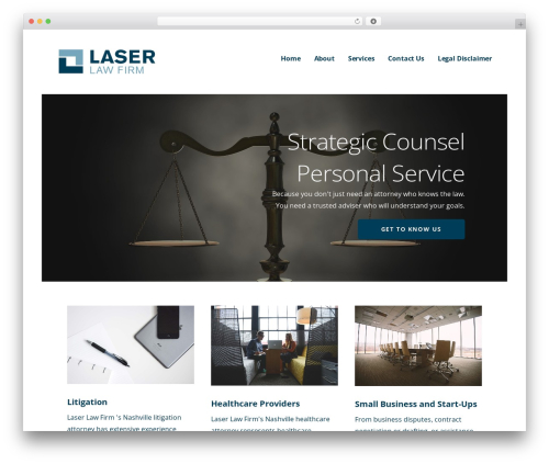 Ascension company WordPress theme - laserlawfirm.com