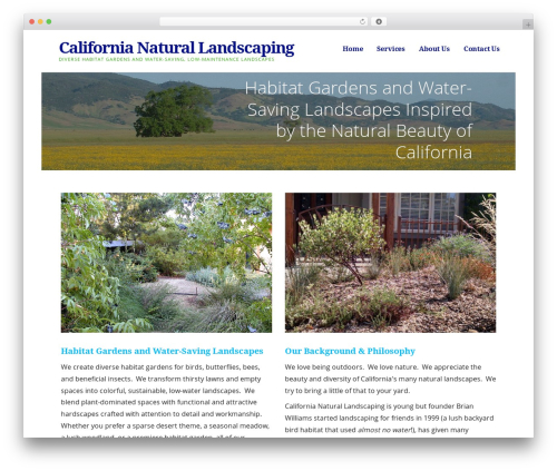 Ascension landscaping WordPress theme - californianaturallandscaping.com