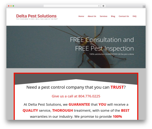 Ascension WordPress theme - deltapestsolutions.com