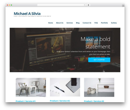 Ascension WordPress video theme - michaelasilvia.com