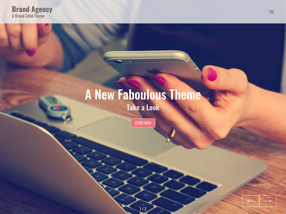 Brand Agency WordPress movie theme