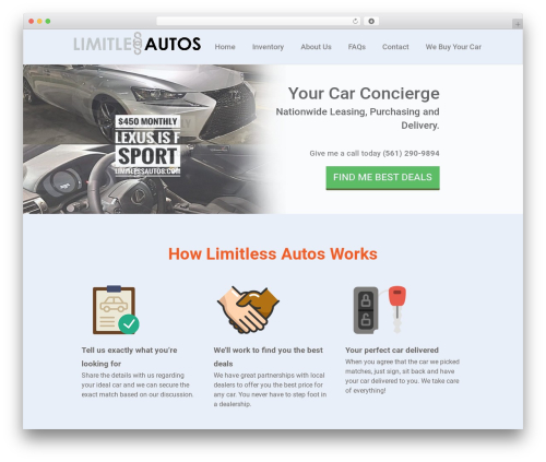 Custom Theme theme WordPress - limitlessautos.com