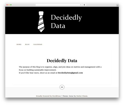 Datar WordPress free download - decidedlydata.com
