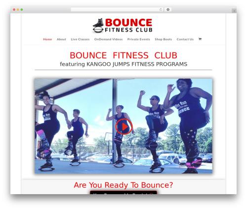 Divi fitness WordPress theme - bouncefitnessclub.com