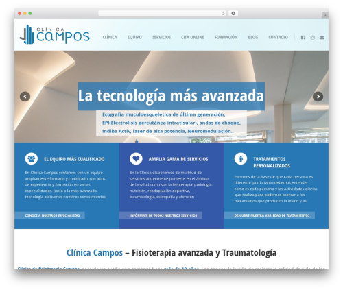 Doctor+ best WordPress template - clinicacamposfisioterapia.com