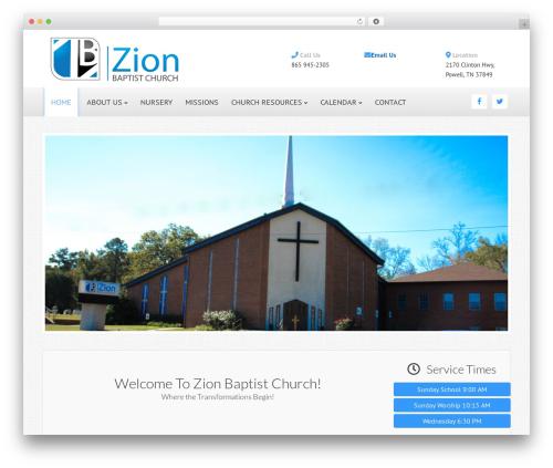 WordPress ezchurch plugin - zbchurchpowell.com
