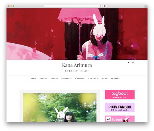 Edge free WordPress theme - kana-arimura.com