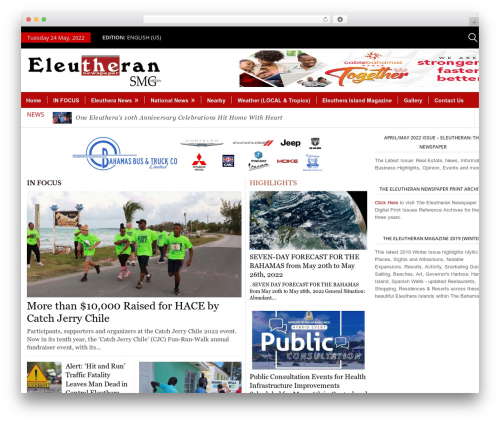 WordPress magazine3-widgets plugin - theeleutheran.com