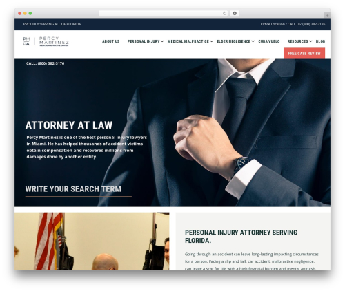 Genesis WordPress template for business - percymartinezlaw.com