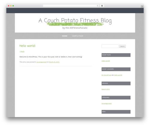 Gray Chalk WordPress template - altfitnessfanatic.com