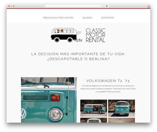 Homa premium WordPress theme - classicmotorrental.com
