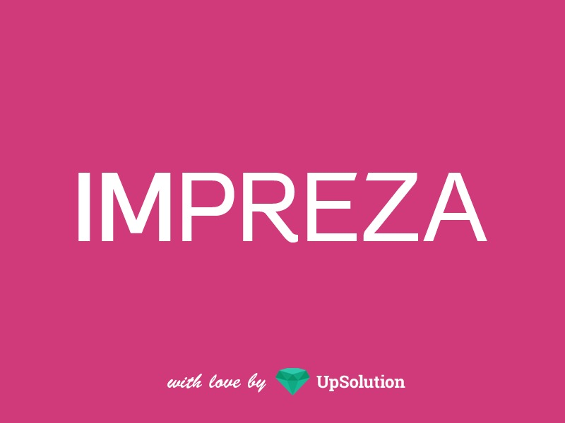 Impreza WordPress page template