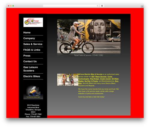 Impronta WordPress theme - gforcebikeandscooter.com