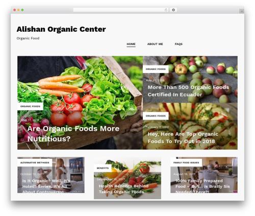 Karta best free WordPress theme - alishan-organic-center.com