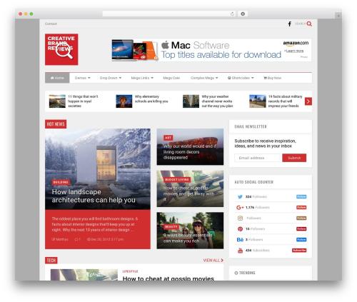 MagOne WordPress news template - creativebrandreviews.com