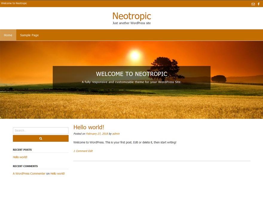 Neotropic WordPress shopping theme