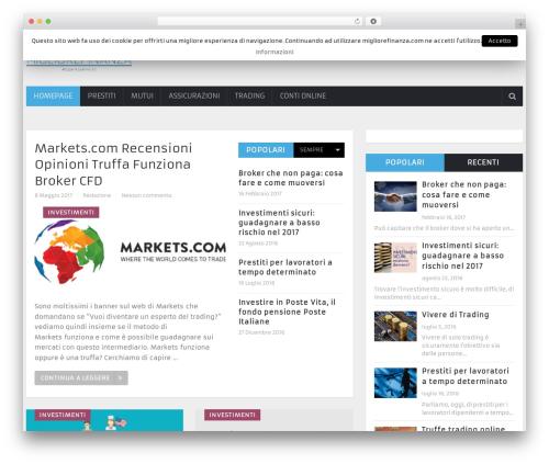 NewsOnline by MyThemeShop WordPress ecommerce template - migliorefinanza.com