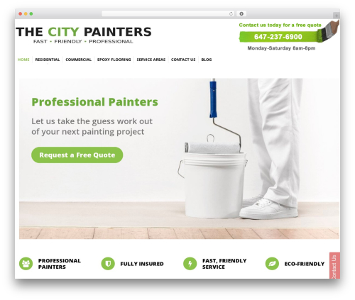 Octopus WordPress template for business - thecitypainters.com