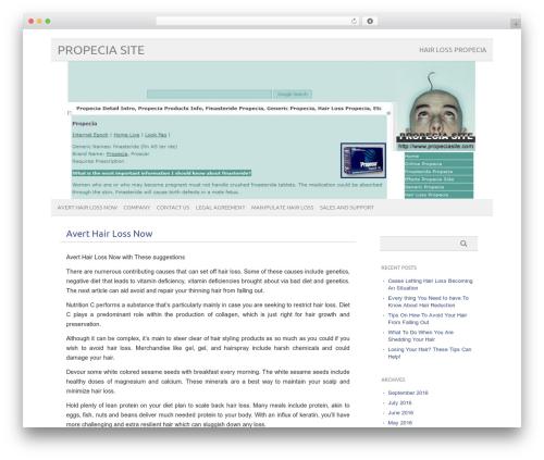 picolight WordPress page template - propeciasite.com