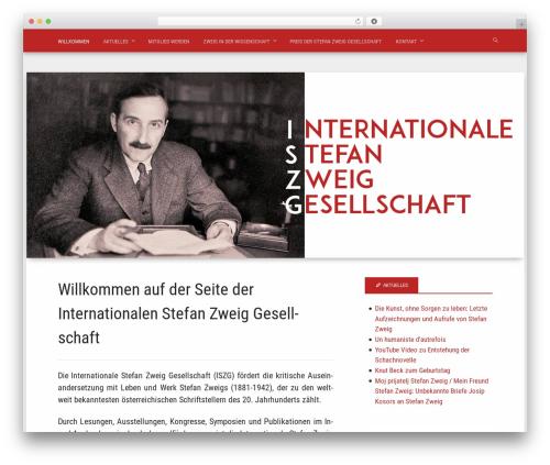 Polymer WordPress theme - stefan-zweig.com