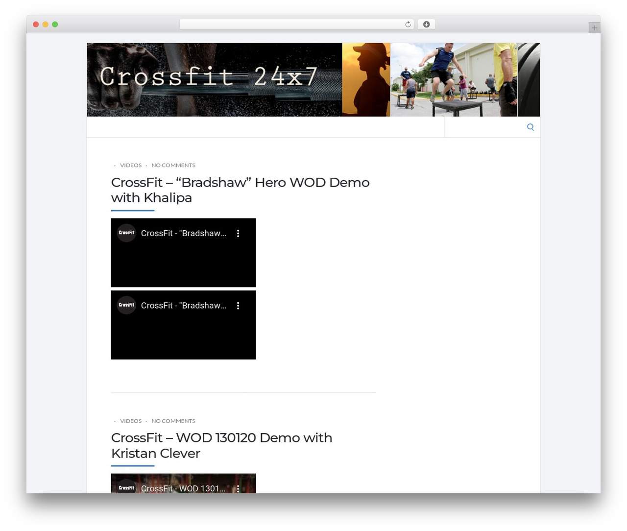 Socrates 5 Child gym WordPress theme - crossfit24x7.com