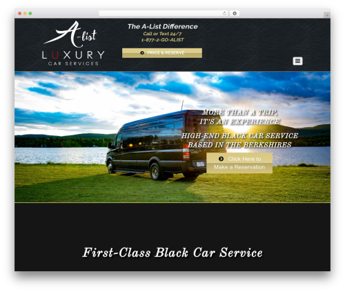 Themify Agency WordPress template - alistluxurycarservices.com