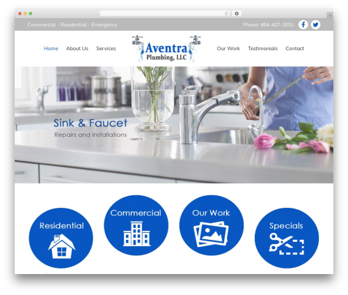 Tower business WordPress theme - aventraplumbing.com