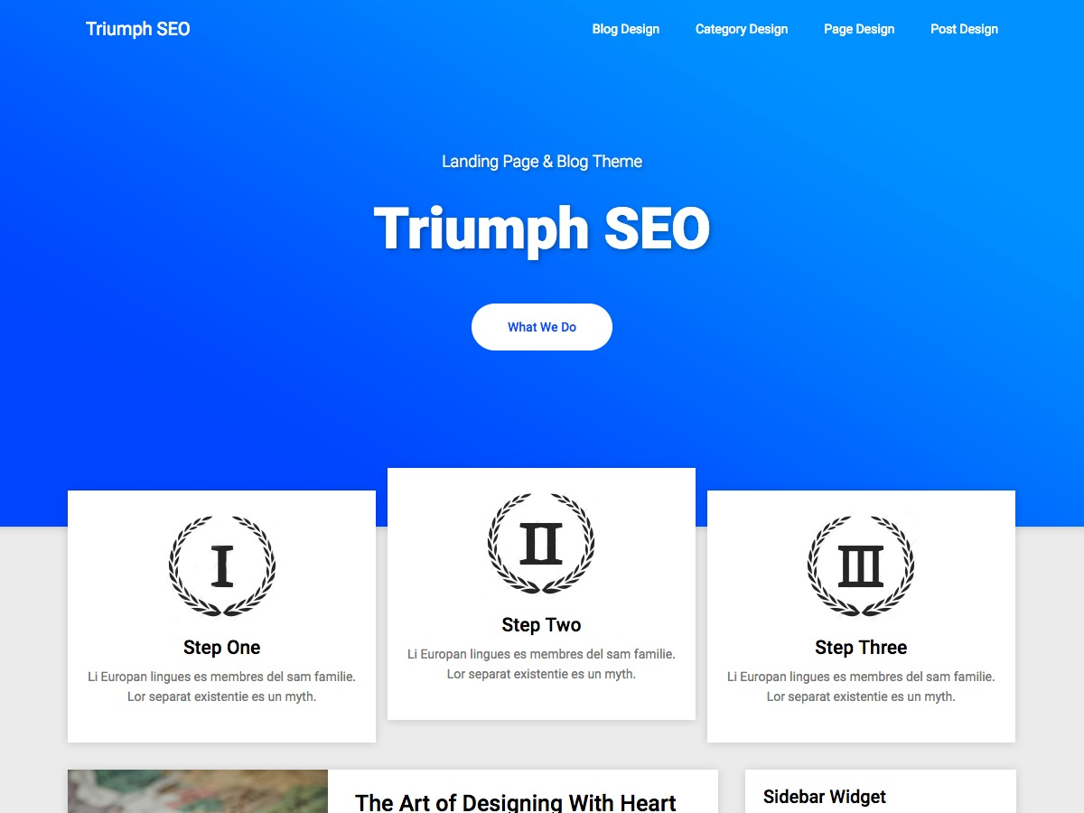 Triumph SEO WordPress magazine theme