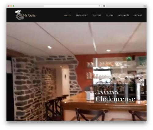 Villenoir best restaurant WordPress theme - restaurant-belle-etoile.com