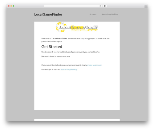 Vito WordPress gaming theme - localgamefinder.com